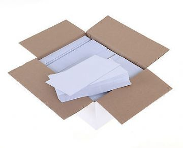 DL ENVELOPES 110 x 220mm PLAIN WHITE SELF SEAL ENVELOPES 80gsm